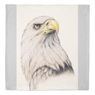 Art Drawing Of  Eagle Duvet Cover