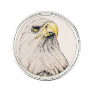Art Drawing Of  Eagle Lapel Pin
