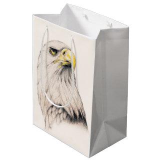 Art Drawing Of  Eagle Medium Gift Bag