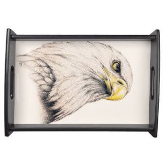 Art Drawing Of  Eagle Serving Tray