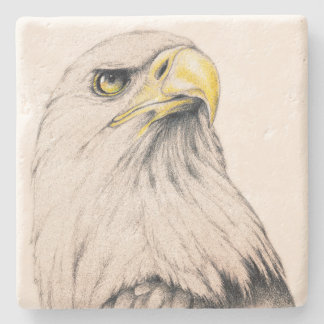 Art Drawing Of  Eagle Stone Coaster