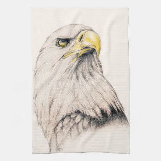 Art Drawing Of  Eagle Towel