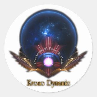 Art dynamique de fractale de Krono Sticker Rond