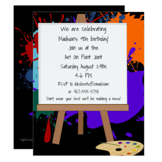 Art Easel Painting Party Invitation