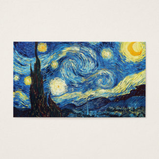 Art Education For Kids & Adults: The Starry Night Business Card
