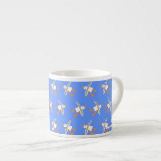 Art Espresso Mug: John Dyer Seagull Design Blue