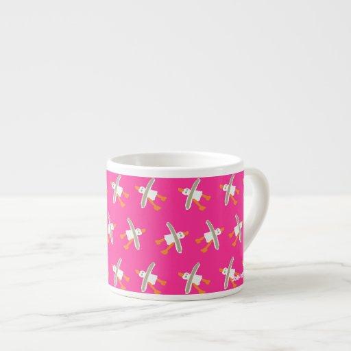 Art Espresso Mug: John Dyer Seagull Design pink