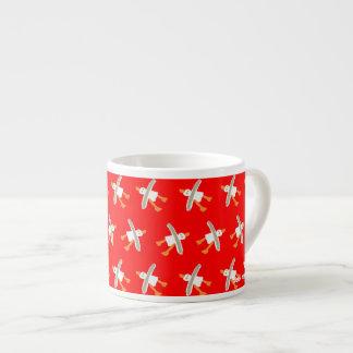 Art Espresso Mug: John Dyer Seagull Design Red