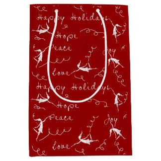 Art Fairies Happy Holidays Medium Gift Bag