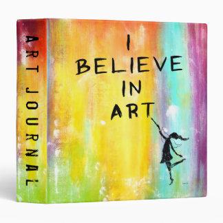 Art Fairy: I Believe In Art Colorful Vinyl Binder