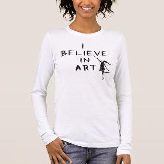 Art Fairy: I Believe In Art Long Sleeve T-Shirt