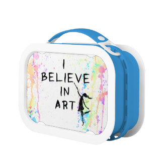 Art Fairy: I Believe In Art Watercolor Run Lunchboxes