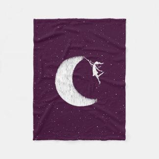 Art Fairy: Paint The Moon (Purple) Fleece Blanket