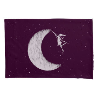 Art Fairy: Paint The Moon Purple Pillowcase