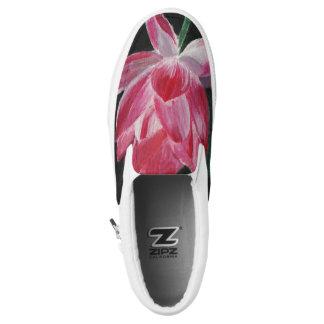 Art fashion Flower Custom Zipz Slip On Shoes