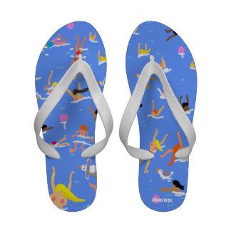 Art Flip Flop: John Dyer Crazy Swimmers Flip-Flops