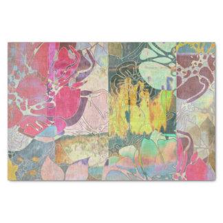 Art floral grunge pattern tissue paper