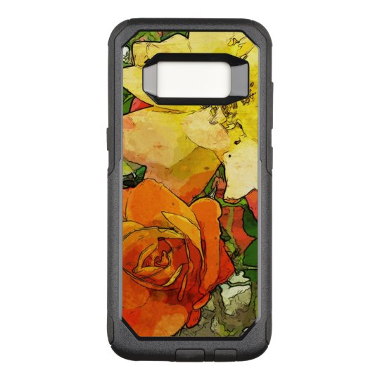 art floral vintage colourful background 2 OtterBox commuter samsung galaxy s8 case