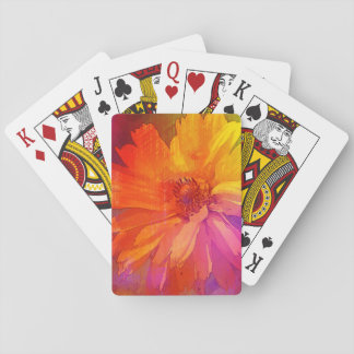 Art Floral Vintage Rainbow Background Playing Cards