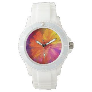 Art Floral Vintage Rainbow Background Wrist Watch