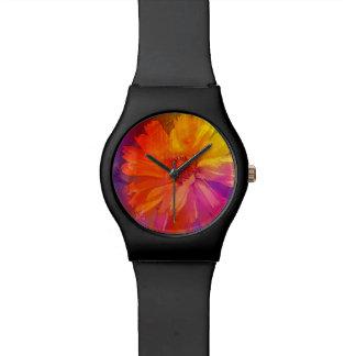 Art Floral Vintage Rainbow Background Wristwatch