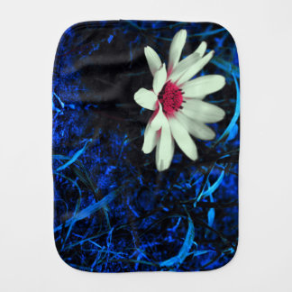 Art flower burp cloth