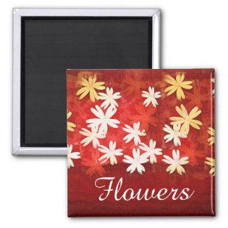 Art flowers Red Magnet