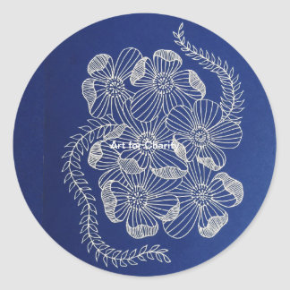 Art for charity classic round sticker