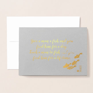 art for charity gold foil greeting card