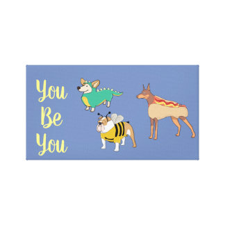 Art for Teens You be You Inspirational Canvas Print