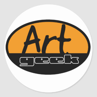art geek classic round sticker