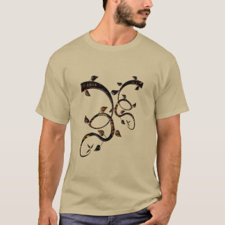 Art Glass Emblem Men's Pebble Colored T-Shirt