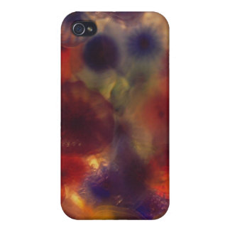 Art Glass Flowers Cover For iPhone 4