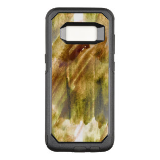 art green, brown hand paint background seamless OtterBox commuter samsung galaxy s8 case