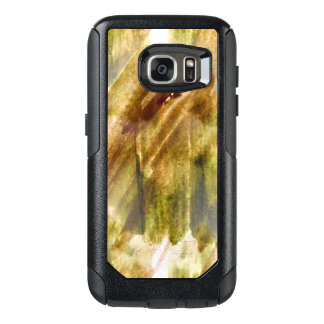 art green, brown hand paint background seamless OtterBox samsung galaxy s7 case