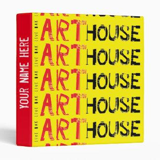 Art House Red Binder