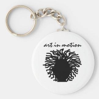 art in motion basic round button keychain