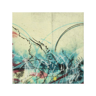 Art in Swirls Graffiti Art Canvas