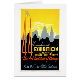 Art Institute Chicago 1940 WPA Card