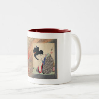 Art, Insurance Girl, Tomioka Eisen, Japan Two-Tone Coffee Mug