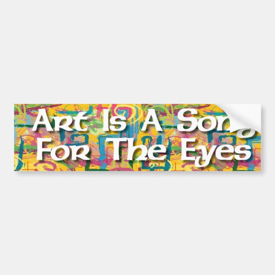 Art Is A Song For The Eyes Sticker