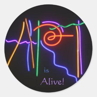 Art is Alive! Classic Round Sticker