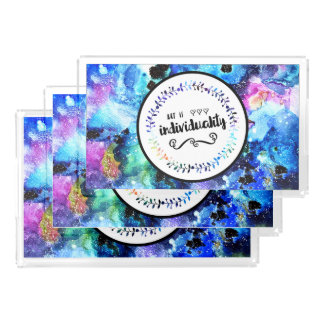 Art is Individuality Acrylic Tray