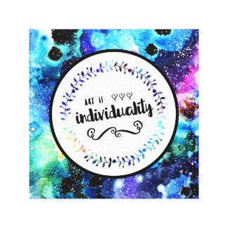 Art is Individuality Canvas Print