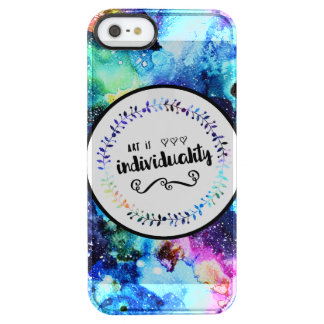 Art is Individuality Clear iPhone SE/5/5s Case