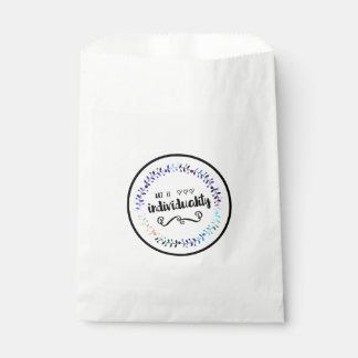 Art is Individuality Favour Bag