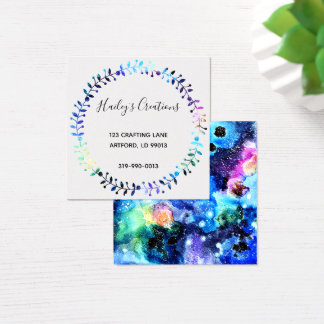 Art is Individuality Square Business Card