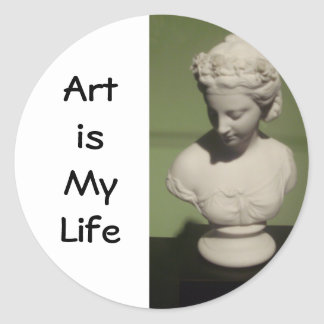 """Art is my Life"" Round Stickers"