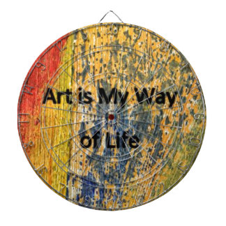 Art is My Way of Life Dartboard