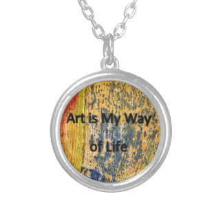 Art is My Way of Life Silver Plated Necklace